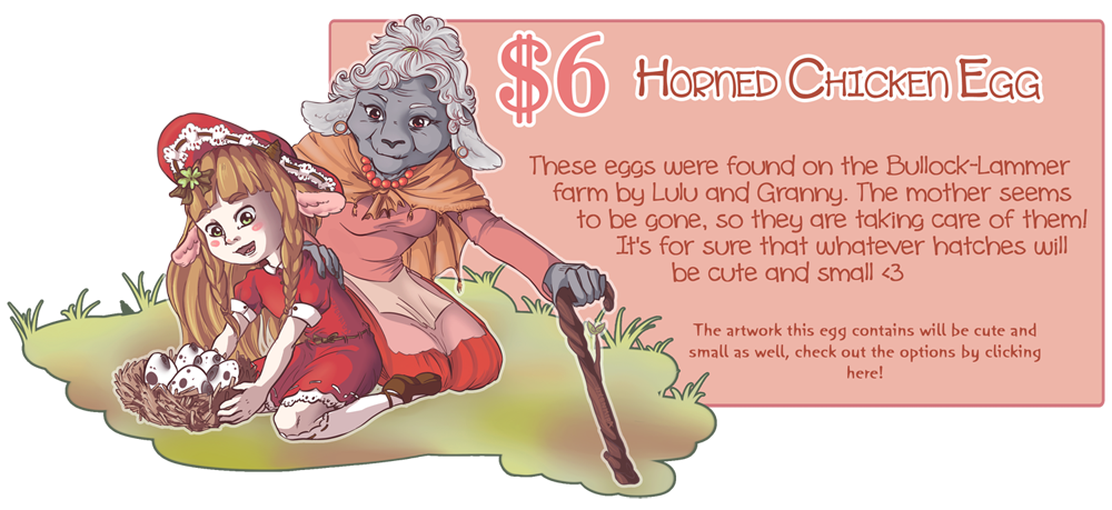 Horned Chicken Egg by Vixenkiba