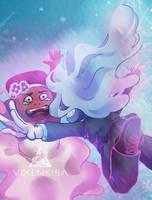 [SU] Wedding - Ruby and Sapphire by Vixenkiba