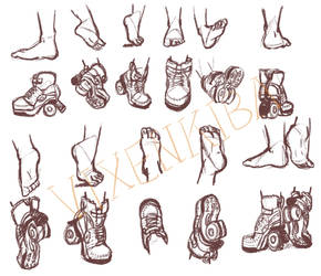 [Sketchdump] Feet and Shoes