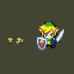 Link Albane - MC styled Sprite by ChaosMiles07