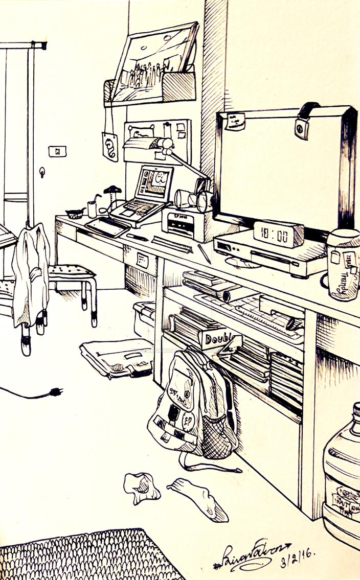 My apartment room by RFakonWolf