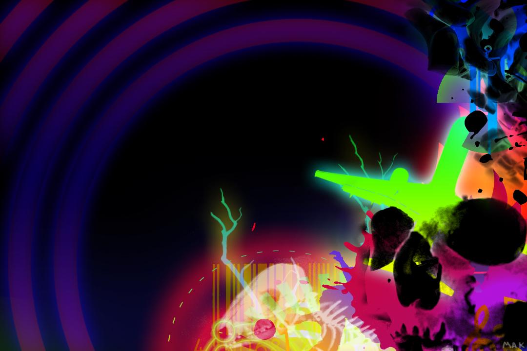 Incredible Neon Skull Wallpaper: Neon Skull By Partyboy9289 On DeviantArt