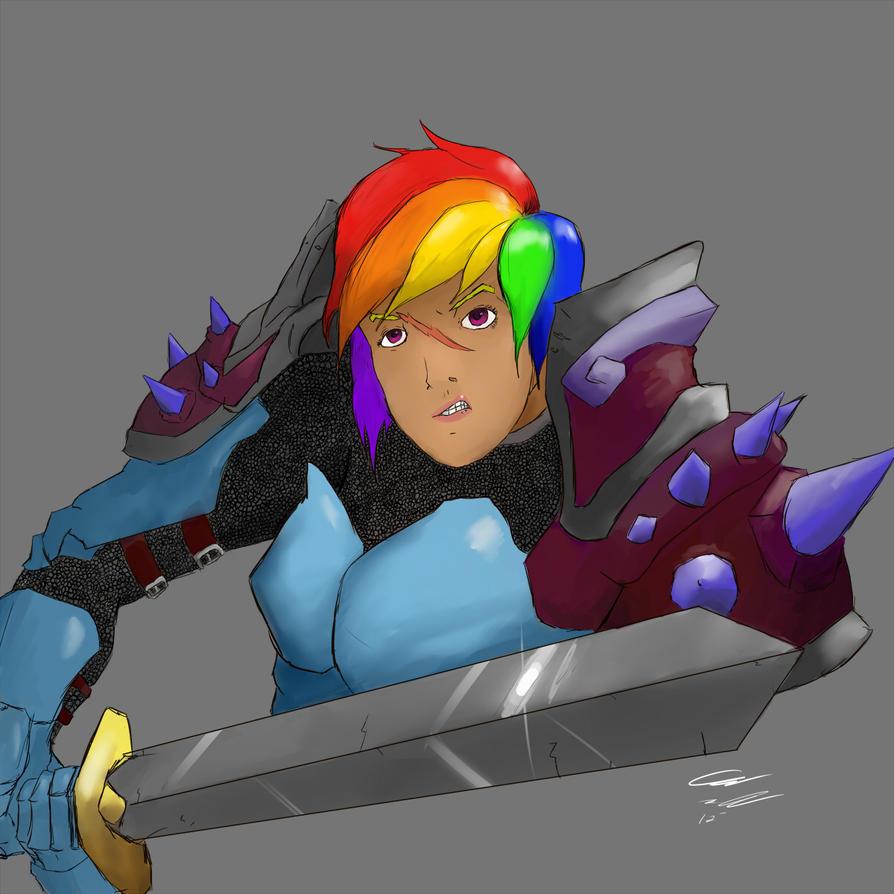 Rainbow Dash (Warrior) By ChibiHob0 On DeviantArt