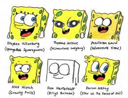 SpongeBob in 6 Different Styles