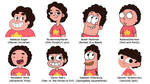 Steven in 8 Different Styles