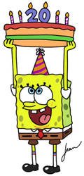 Birthday Gift for SpongeBob by Finnjr63
