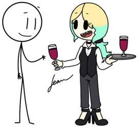 Serving Wine by Finnjr63