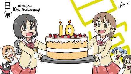 Nichijou's 10th Anniversary