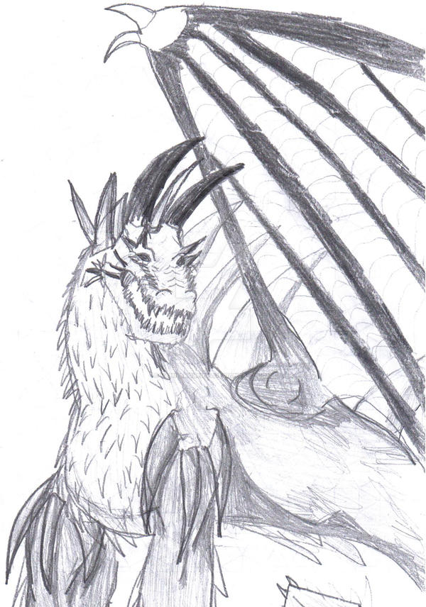 axel dragon, one winged dragon by vanna6yaoiheaven