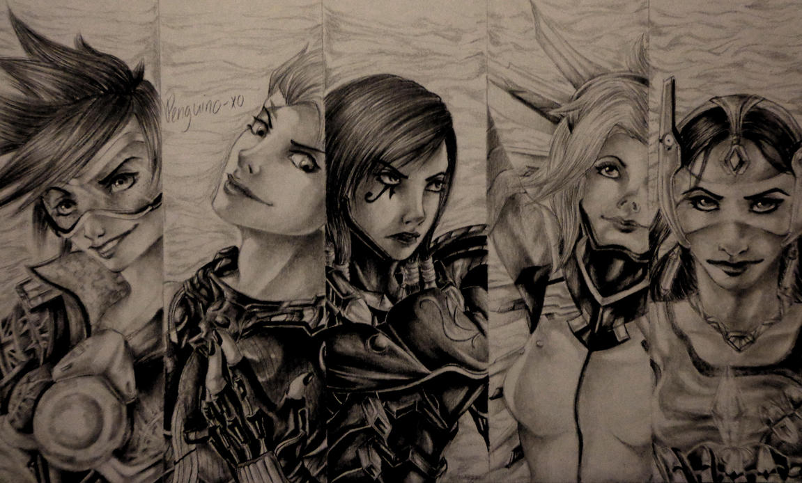 My Overwatch Lady Mains by ANiMExFReaKx115