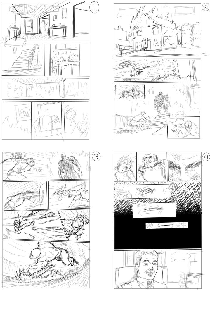 Webcomic Thumbnail Pages. by WakerDre
