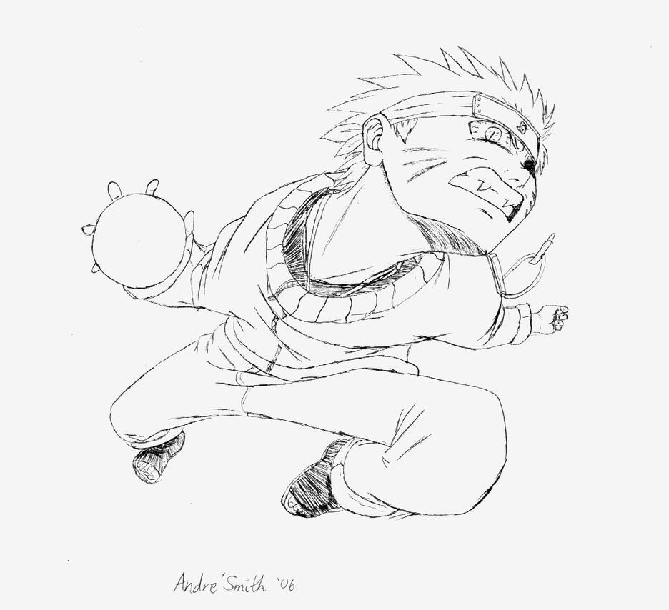 Kyuubi Naruto Rasengan by WakerDre