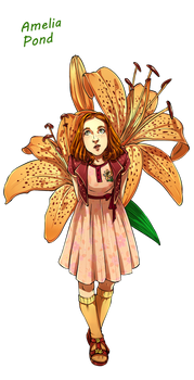 Dr Who Flowers - Little Amelia by Miss Alex Aphey
