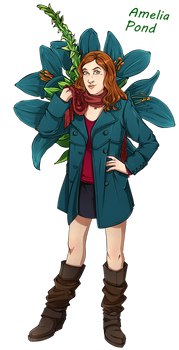 Dr Who Flowers - Amy by Miss Alex Aphey