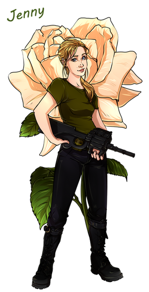 Doctor Who Flowers - Jenny by Yet-One-More-Idiot