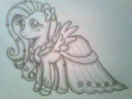 Fluttershy in her Gala outfit by FinnishGirl97