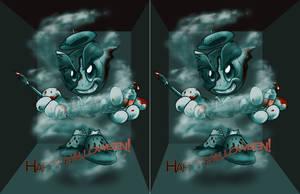 Fella as an Artist Ghost IN 3D by Kuroikii