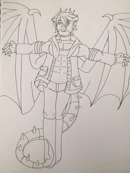 Oc Revamp: Dragonlord of Darkness, Dustin WIP