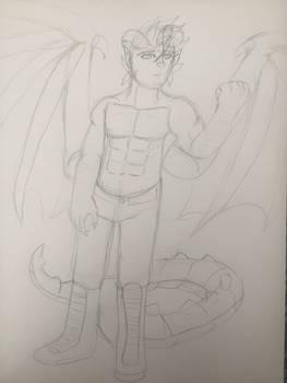 OC: Vulcus, Dragonlord of Hellish Flames (WIP)