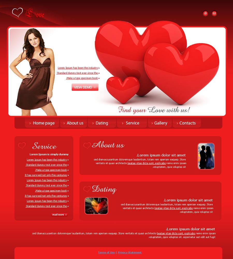 Website template love by ggweya on deviantart for Website layout maker