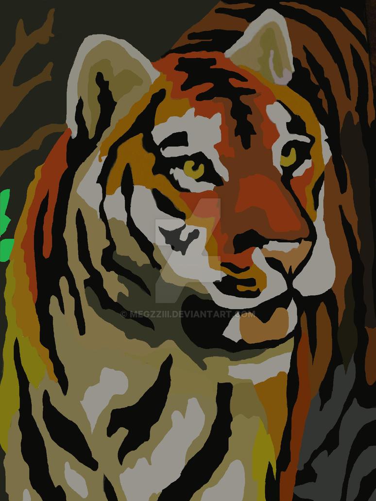Tiger Pop Art Pop Art Tiger Antichar by