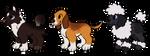 [OPEN 2/3] [CHEAP] Doggies Adoptable by Tunno