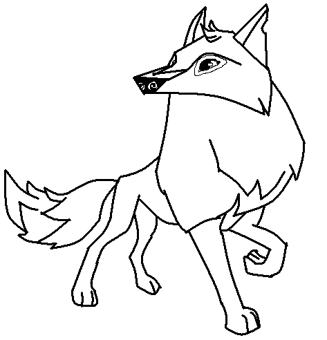 Aj arctic wolf base by breezycheeks on deviantart for Animal jam arctic wolf coloring pages