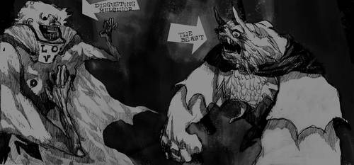 Melchior and the Beast by MortisGhost