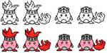Sprite - Kirby Fireman by saiyankev