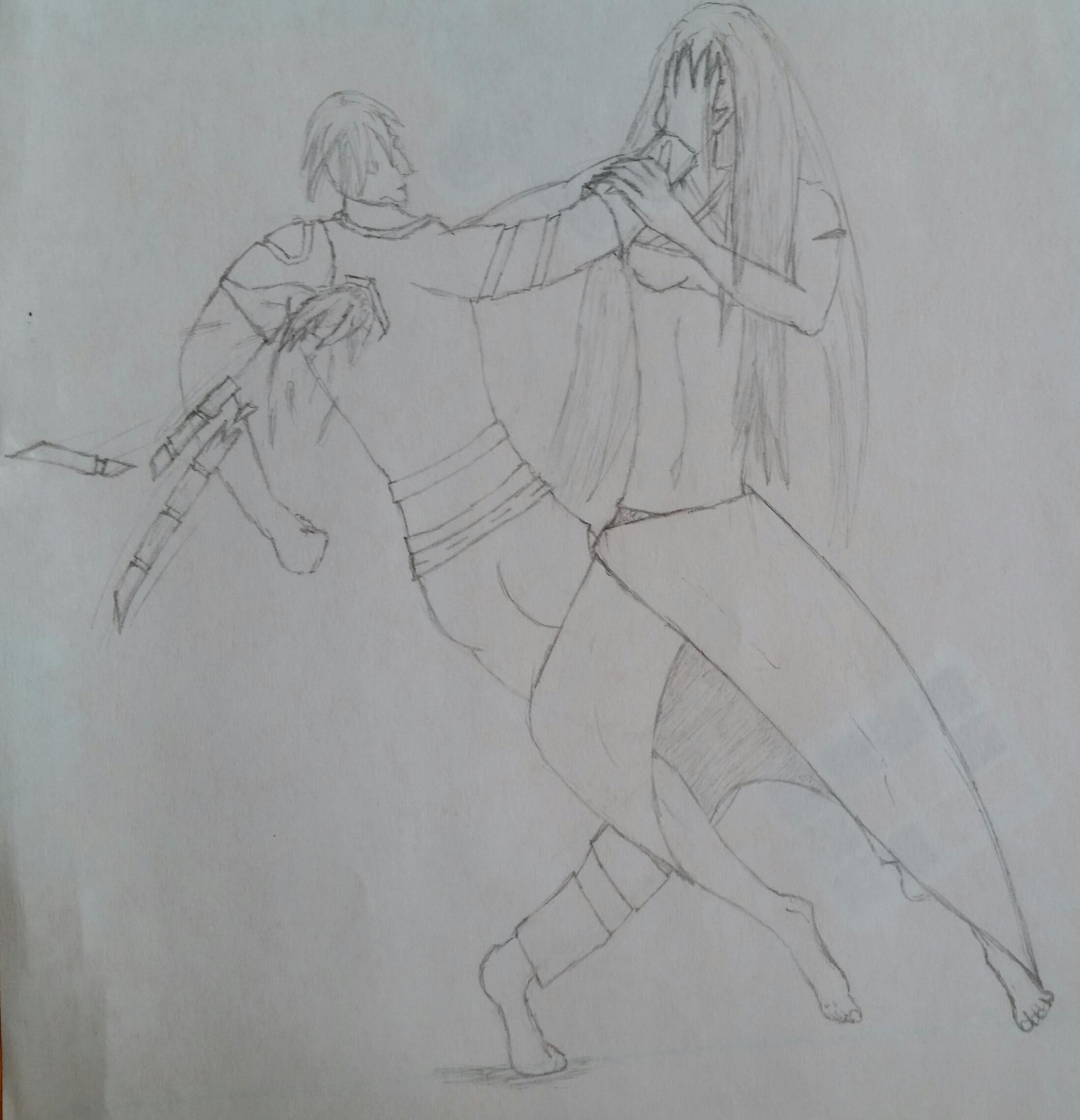 Hero(Me) Vs Villain(Friend) by saiyankev