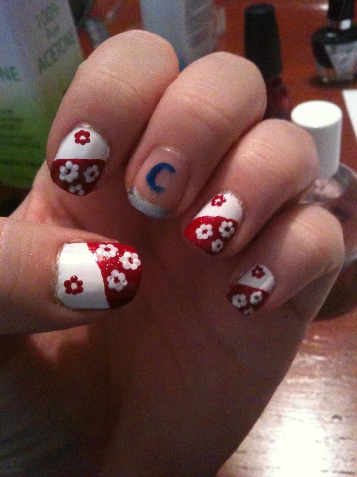 Sesshomaru Inspired Nail Art by ineedacat9