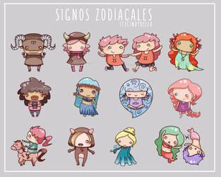 Signos Zodiacales by itz-Cindyrella