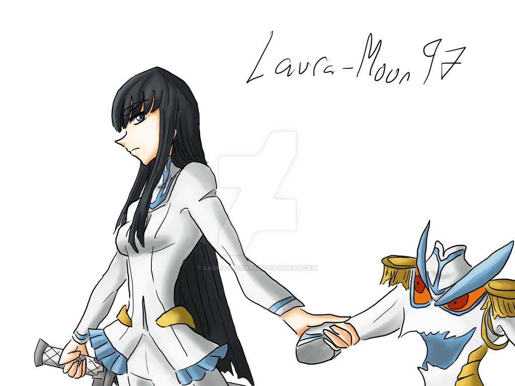 Satsuki and Junketsu by Laura-Moon97