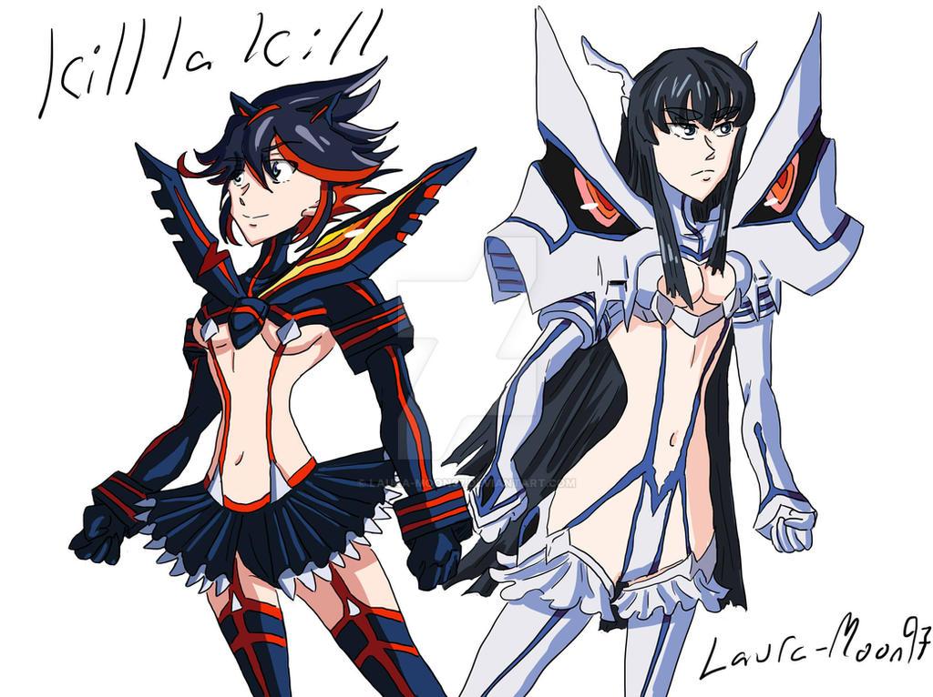 Kill la kill fanart Ryuko and Satsuki by Laura-Moon97