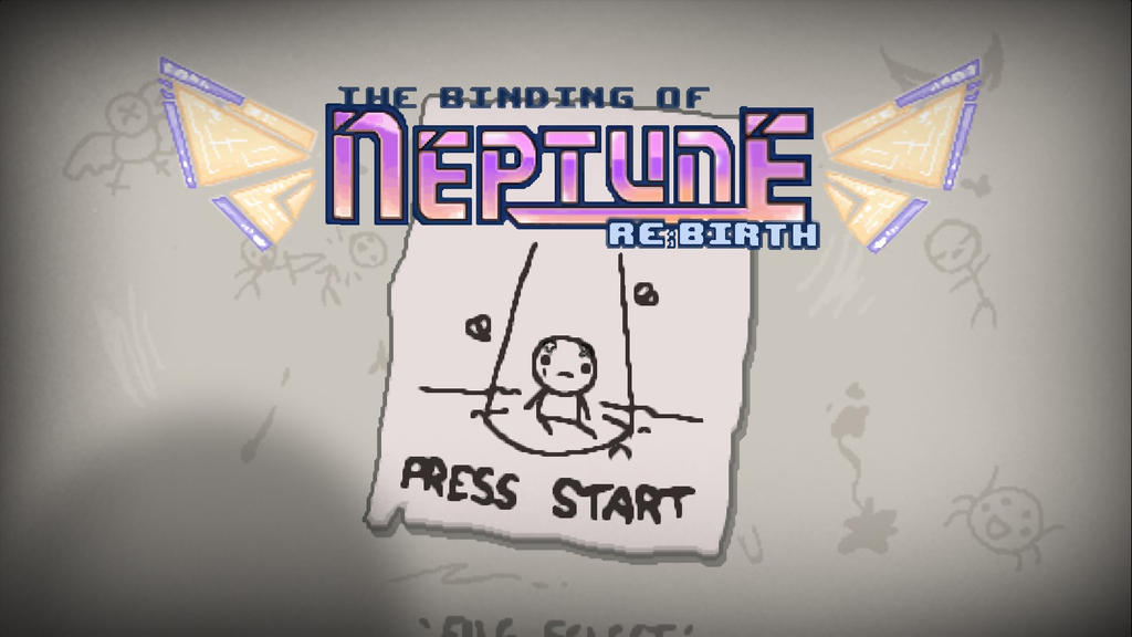 Title screen for Binding of Isaac mod by Laura-Moon97