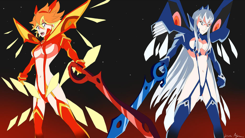 Senketsu Kisaragi and Junketsu Shinzui by Laura-Moon97