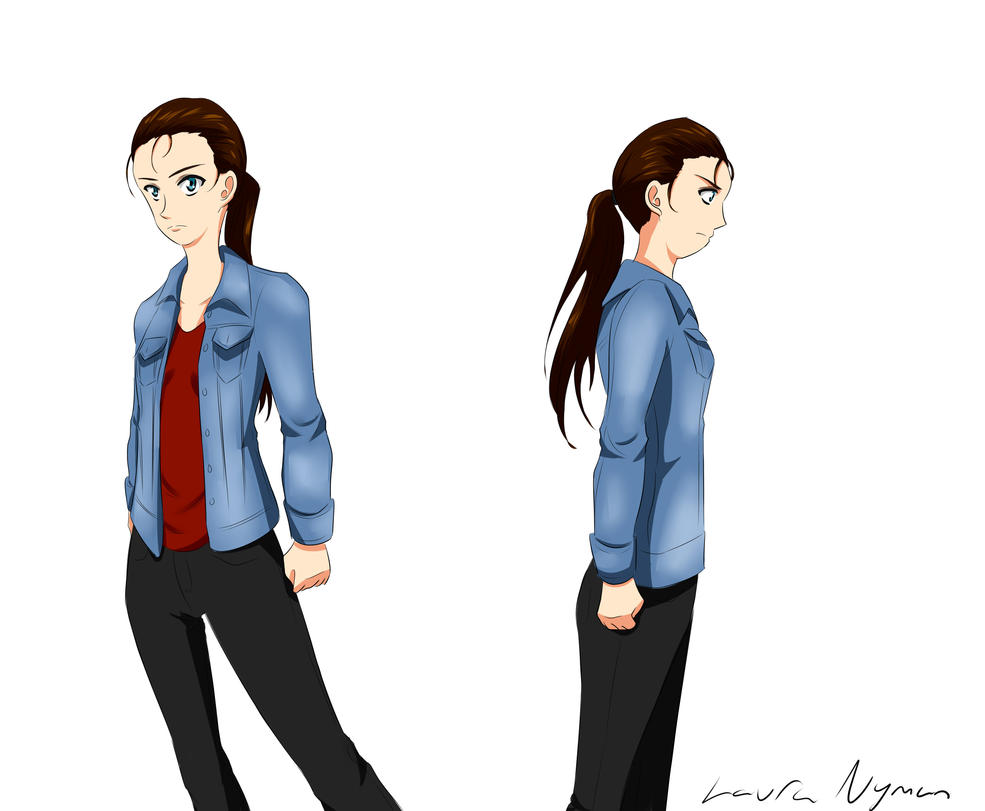 Character design - My best friend by Laura-Moon97