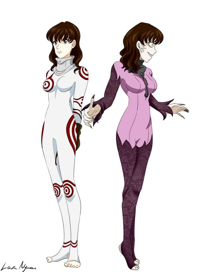 Me in Shiro's (from Deadman Wonderland) bodysuits by Laura-Moon97