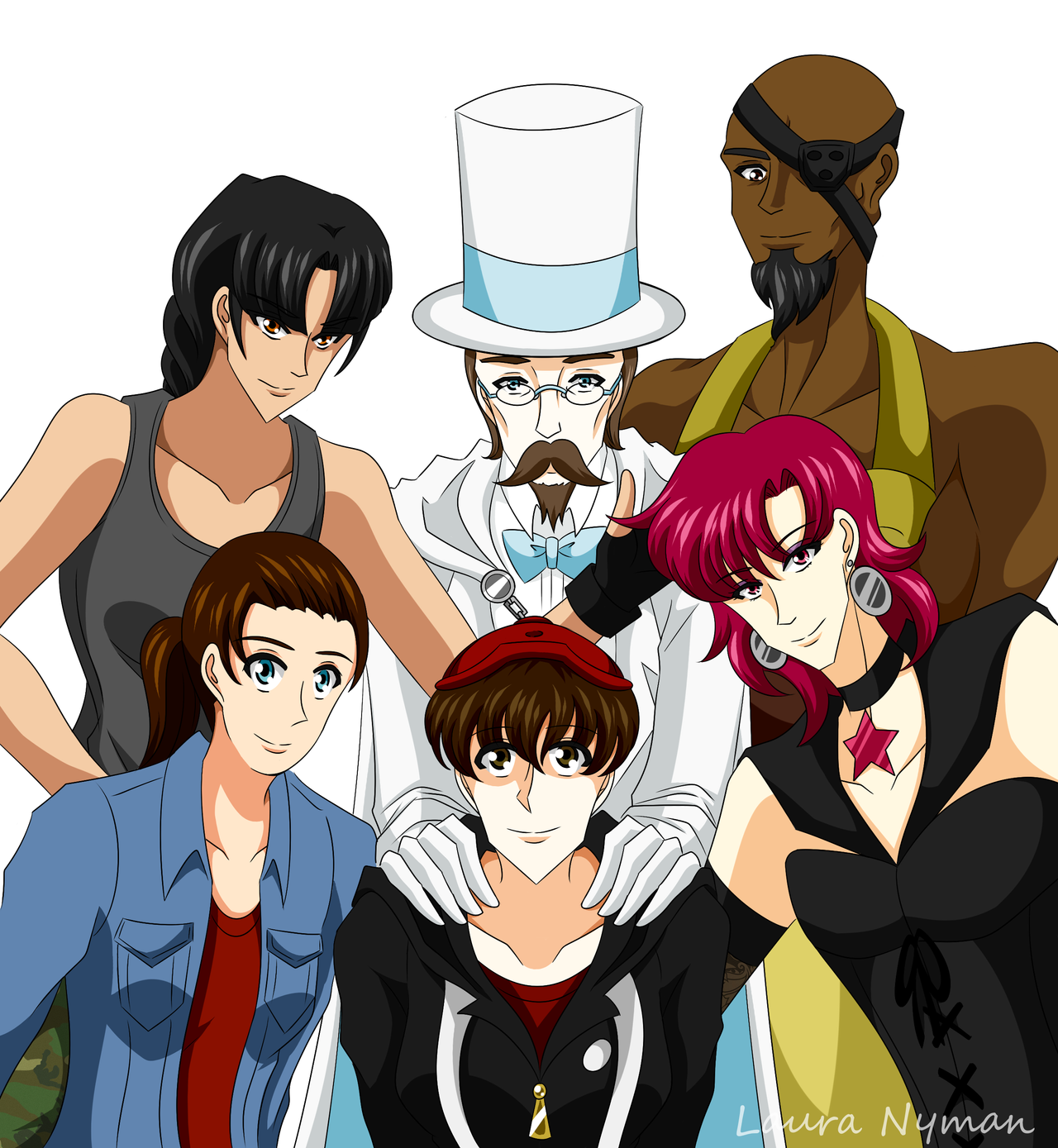 My characters - Group picture by Laura-Moon97