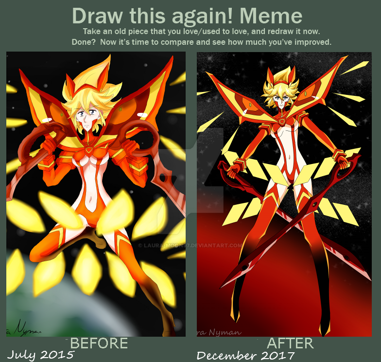 Laura-Moon97 - Draw this again meme by Laura-Moon97