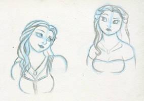 Belle sketches by RwoRomeo