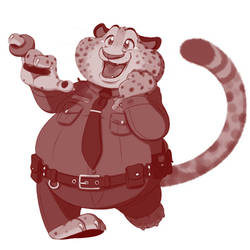 Officer Benjamin Clawhauser, with a donut ring!