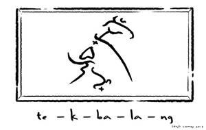 Tikbalang written in Baybayin