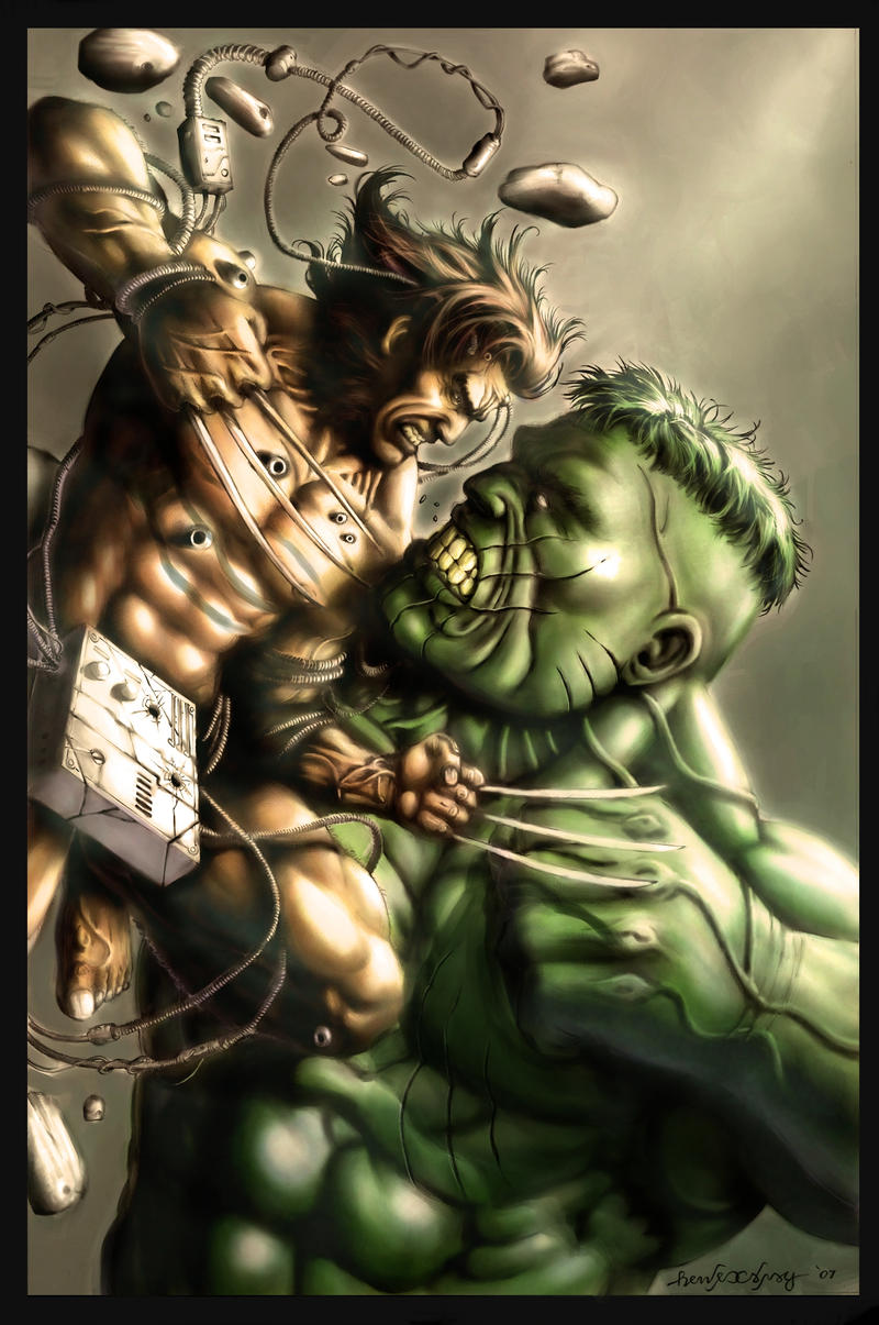 Wolverine Vs. Hulk by g45uk2 ...