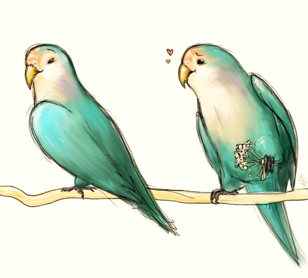 Lovebirds by Goose-of-Stature
