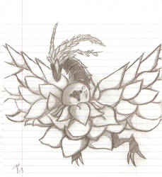 Black Rose Dragon by CerberusKitsune-Kun