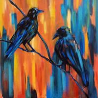 Crows by JeanBlaze