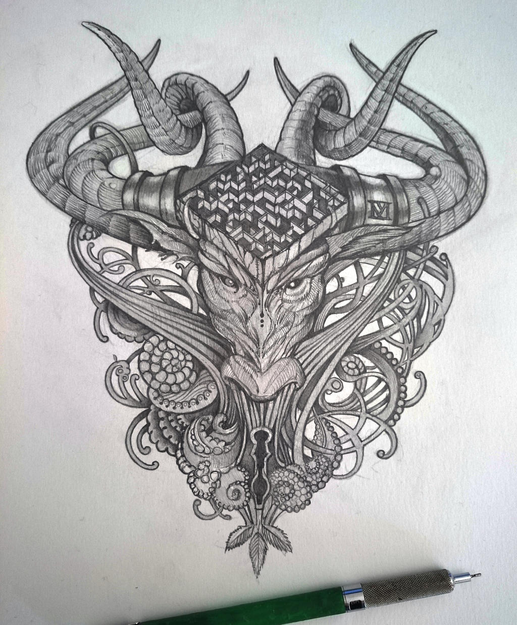 Minotaur head by fairwood59 on DeviantArt