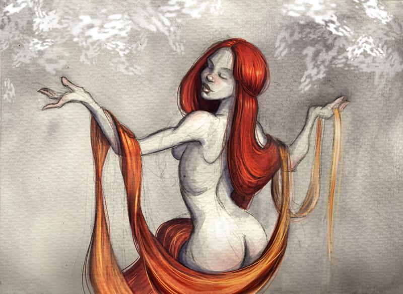 Red Hair by reginade