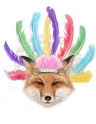 Fox in a Headdress